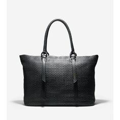 The Bethany Weave Large Tote: Our pinnacle expression with heritage and history woven into the details. Crafted from rich leather, this structured tote is equi…