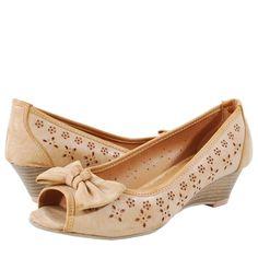 Edra02 Vintage Low Wedge Shoes NATRUAL