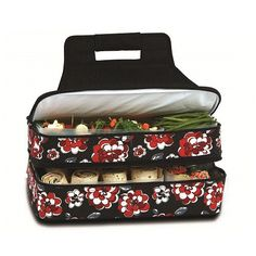 Picnic Plus PSM-721RC Entertainer Hot/Cold Food Carrier in Red Carnation