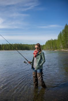 We won't be fly fishing but I love the gray fleece under the military jacket!