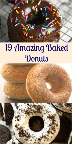 19 Amazing Baked Donuts, Waay better than fried. Because sometimes baked donuts are better, take your pick, cinnamon, oreo, chocolate,gluten free, pumpkin, you name it! Enjoy!