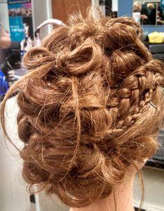 Bow/Braid/Curls Updo