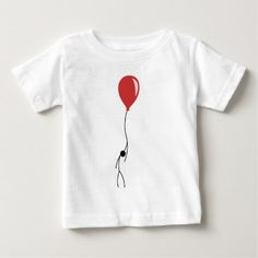 Red balloon baby T-Shirt - tap to personalize and get yours