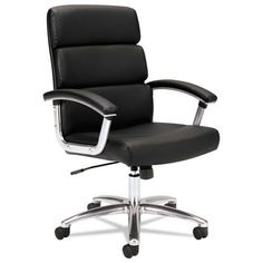 basyx by HON HVL103 Executive High-Back Chair #executiveofficedesigns