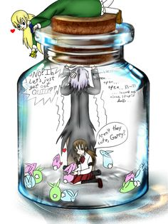 Ib(game)- Jar Trapped with... Bunnies? by Shinkou-san.deviantart.com