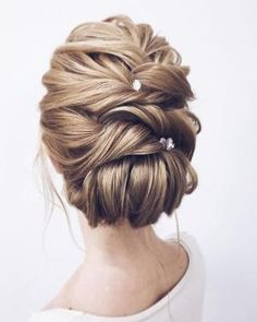 Wedding Hairstyles Updo Whether a classic chignon, textured updo or a chic wedding updo with a beautiful details. These wedding updos are perfect for any bride looking for a unique wedding hairstyles. - Hair by Lena Bogucharskaya Make up Unique Wedding Hairstyles, Romantic Hairstyles, Wedding Updo, Prom Hairstyles, Chic Wedding, Hairstyle Ideas, Prom Updo, Easy Hairstyles, Trendy Wedding