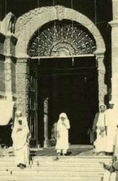 The very old entrance of Masjid Al Nabawi ( peace be upon Him)