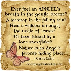 ♡☆ Nature is an Angel's favorite hiding place ☆♡
