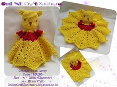 Online Craft Sanctuary: Mini Pooh Lovey - Free Pattern