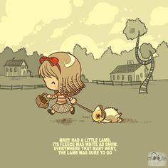 marry had a little lamb #morbid