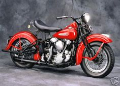 1947 Harley Davidson Motorcycle Canvas Giclee DTM ...