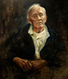 Portrait of Helge Ingstad by Vebjørn Sand.