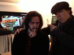 Edgar Wright and Benedict Cumberbatch