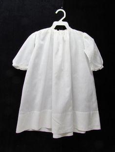 Antique white batiste infant dress c.1900 baby by mathildasattic