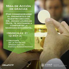 #MisaFCCTP | Te esperamos mañana en el Oratorio de nuestra Facultad para celebrar la Misa de Acción de Gracias por el onomástico de nuestro Decano. Oremos juntos como comunidad sanmartiniana.