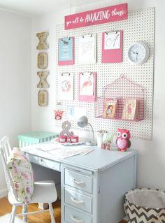 DIY desk area for girls room