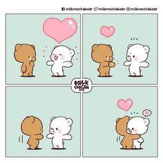 Cute Bunny Cartoon, Cute Cartoon Pictures, Cute Bear Drawings, Cute Cartoon Drawings, Cute Love Memes, Cute Love Gif, Chibi Cat, Cute Chibi, Roald Dahl