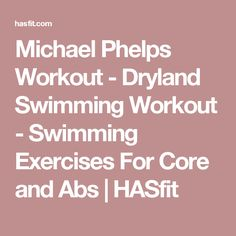 Michael Phelps Workout - Dryland Swimming Workout - Swimming Exercises For Core and Abs Dry Land Swim Workouts, Workouts For Swimmers, Swimming Pool Exercises, Swimming Drills, Pool Workout, Easy Workouts, Water Workouts, Bike Workouts, I Love Swimming