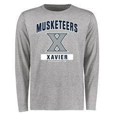 Xavier Musketeers Big & Tall Campus Icon Long Sleeve T-Shirt - Ash