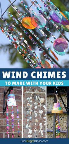 If you love the idea of natural music playing in your garden then you are going to love these simple wind chime crafts that you can make with your kids!