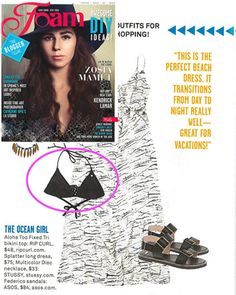 Rip Curl Aloha Too Fixed Tri Bikini Top featured in the February 2013 Foam Magazine