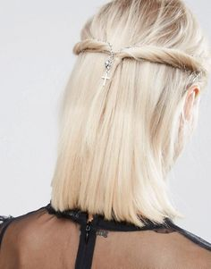 ASOS | ASOS Gothic Cross Hair Crown Clips