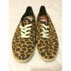 Cheetah print Keds Gently worn cheetah print Ked's sneakers. Brand new white laces, shoes worn only a couple times (worn without laces in them) super cute! keds Shoes