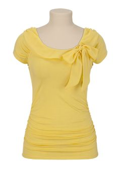 Cap Sleeve Tie Front Top - maurices.com (not my best color but so cute!)