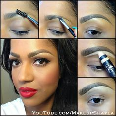 Youtube..make up by shayla  A bit thick, but that can be altered to ones taste.