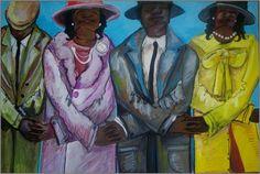Civil Rights Line Painting  - Civil Rights Line Fine Art Print