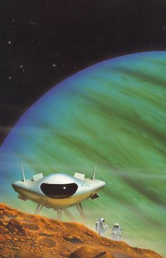 Space art by Tim White.
