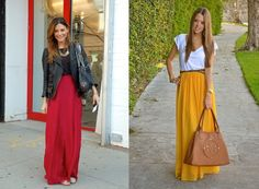 cute long skirts outfits