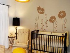 Flower Wall Sticker Floral Wall Decor Childrens by ChinStudio