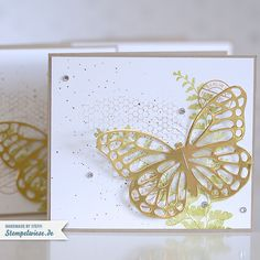 Stampin' Up! - Schmetterlingsgruß - Thinlits - Buttefly Basics - Gold ❤ Stempelwiese
