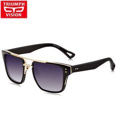 eb60216882c designer sun glasses Picture - More Detailed Picture about TRIUMPH VISION Square  Oculos Sunglasses Men Cool Gradient Shades Male Matte Lattice Temple ...