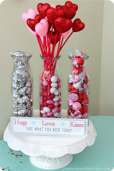 A Valentine Vignette with Candy Station