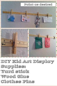 DIY Kid Art Display