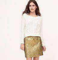 Metallic Jacquard Mini Skirt