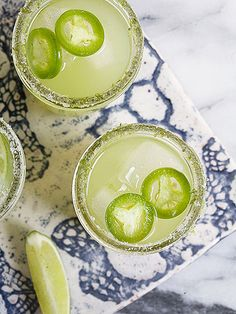 This fiery cucumber margarita is the perfect choice for an easy, warm weather cocktail