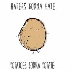 So true !  Hater gonna hate Potatoes gonna potate