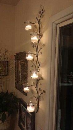 Lamp design, lamp art, light, home decor, interior design Source by SooPush Wall Candle Holders, Candle Stand, Cool Lamps, Unique Lamps, Rideaux Design, Wrought Iron Decor, Best Decor, Diy Décoration, Lamp Design