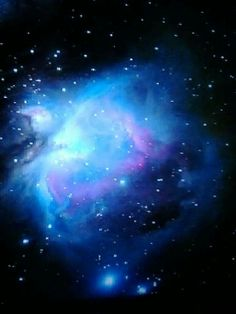 Blue Nébula <3 *** Cosmos, Orion Nebula, Andromeda Galaxy, Space Photos, Space Images, Sistema Solar, Universe Art, Space And Astronomy, Amazing Spaces