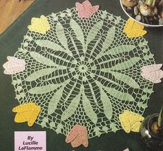 Tulips Doily Crochet Pattern - Perfect for Easter and Spring