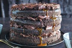 Caramel lava chocolate cake