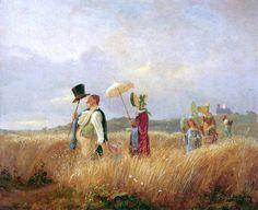 The Athenaeum - Sunday Stroll (Carl Spitzweg - ) 1842