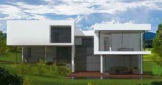 Plan maison moderne toit plat à Port Marly