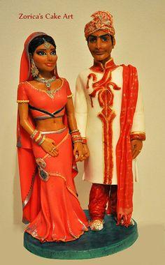 Bollywood topper - by Hajnalka @ CakesDecor.com - cake decorating website