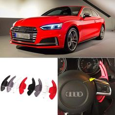 62.99$  Buy now - http://ali9ew.worldwells.pw/go.php?t=32759927732 - 2pcs Alloy Add-On Steering Wheel DSG Paddle Shifters Extension For Audi S5 62.99$