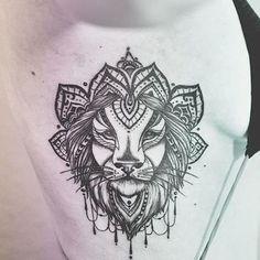 Lion, traditional, body tattoo on TattooChief.com