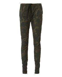 Rag & Bone Camo Print Jogger: Adopt the military trend with these drawstring, elastic-waist joggers. Deep slant front pockets and two vent pockets at rear. 7 1/2 zip hem. In camo. Model Measurements: Height 5'8.5 ; Waist 24 ; Bust 33 Rise: 10 Inseam: 29 8 leg ...